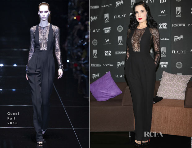 Dita Von Teese In Gucci - Raven Music and Arts Club Opening Press Conference