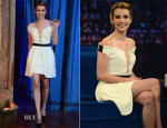 Emma Roberts In Three Floor - Late Night With Jimmy Fallon