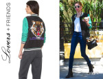 Emma Roberts' Lovers + Friends 'Can't Wait' Baseball Jacket