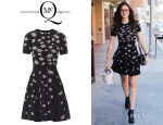 Emmy Rossum's McQ Alexander McQueen 'Bug' Intarsia Knit Dress