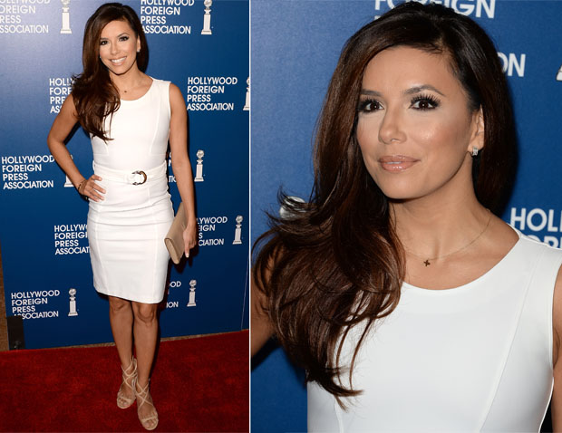 Eva Longoria In Gucci Hollywood Foreign Press Association S 2013 Installation Luncheon Red