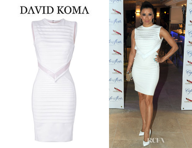 Eva Longoria's David Koma Sculptural Dress