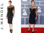 Faith Hill's J. Mendel Bustier Paneled Dress