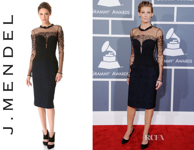 Faith Hill's J Mendel Bustier Paneled Dress