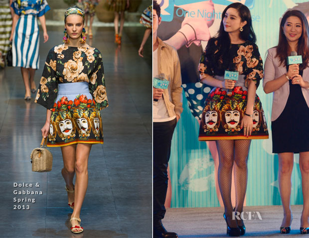 Fan Bingbing In Dolce & Gabbana - 'One Night Surprise' Press Conference