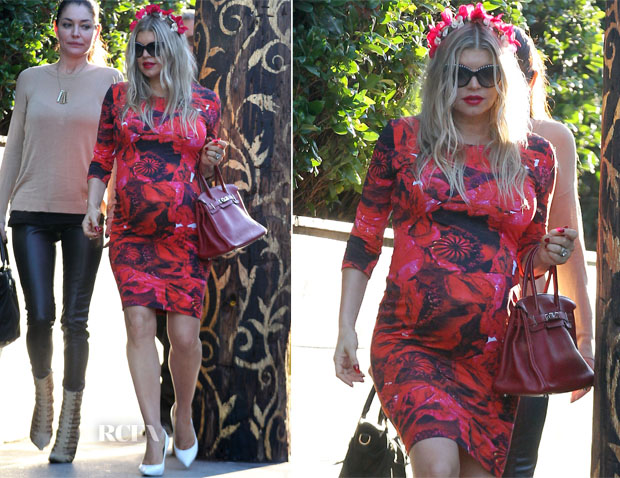 Fergie In Preen - 2nd Baby Shower