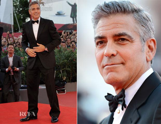 George Clooney In Giorgio Armani - 'Gravity' Venice Film Festival Premiere