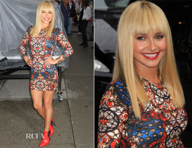 Hayden Panettiere In Alexander McQueen  - Late Show With David Letterman