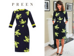Helena Christensen's Preen 'Dawn' Citrus Flower Embroidered Dress