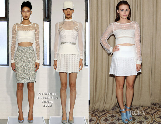 Holland Roden In Catherine Malandrino - Cosmopolitan's Summer Bash