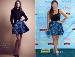 Jenna Ushkowitz In Georgine - 2013 Teen Choice Awards