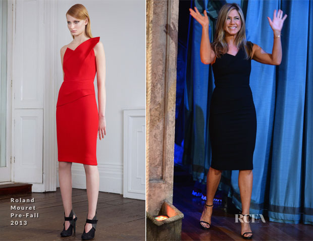 Jennifer Aniston In Roland Mouret - Late Night With Jimmy Fallon