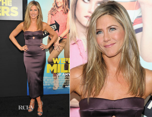 Jennifer Ansiton In Burberry - 'We're The Millers' New York Premiere
