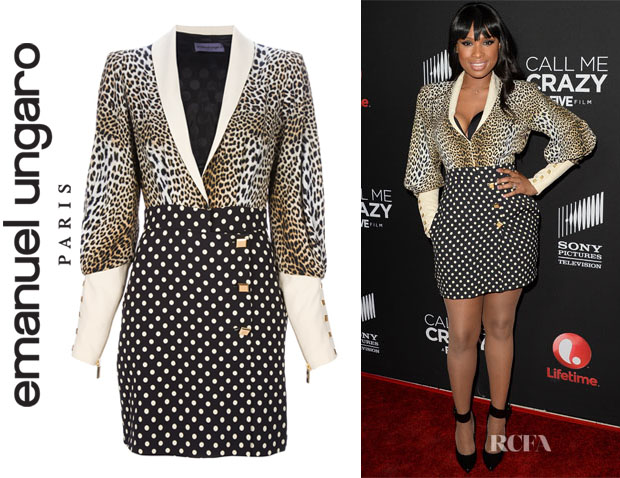 Jennifer Hudson's Emanuel Ungaro Multi Print Pencil Dress