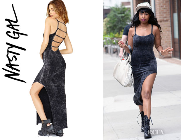 Jennifer Hudson's Nasty Gal Dark Acid Maxi Dress