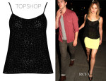 Jennifer Lawrence's Topshop Daisy Burnout Cami