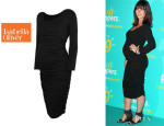 Jennifer Love Hewitt's Isabella Oliver Ruched Midi Maternity Dress