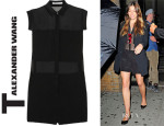 Jessica Biel T by Alexander Wang Paneled Silk Crepe de Chine and Silk-Chiffon Playsuit
