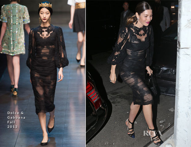 Jessica Biel in Dolce & Gabbana - Roc Nation VMAs After-Party