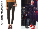 Jessie J's Citizens of Humanity 'Rocket' Leatherette Jeans