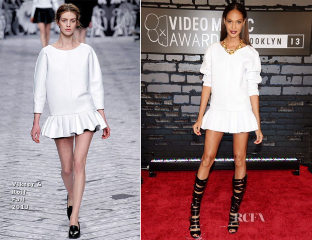 Joan Smalls In Viktor & Rolf - 2013 MTV Video Music Awards #VMAs