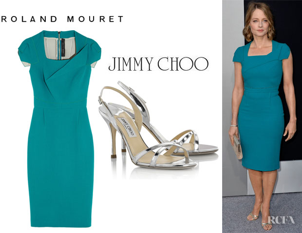 Jo Foster S Roland Mouret Breccia Dress And Jimmy Choo