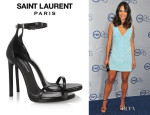 Jordana Brewster's Saint Laurent Leather Sandals