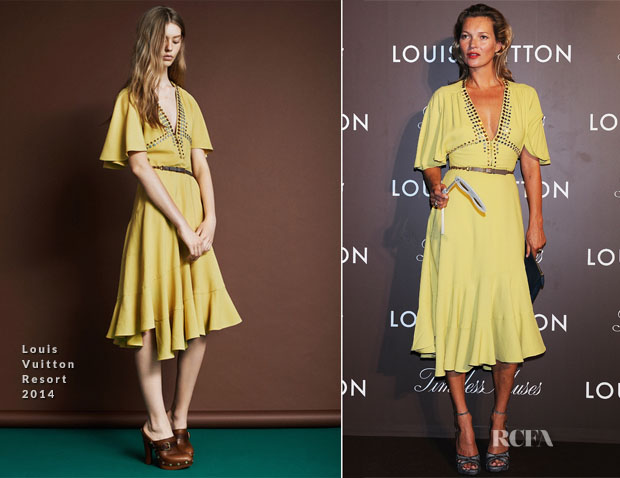 Kate Moss In Louis Vuitton - Louis Vuitton 'Timeless Muses' Exhibition