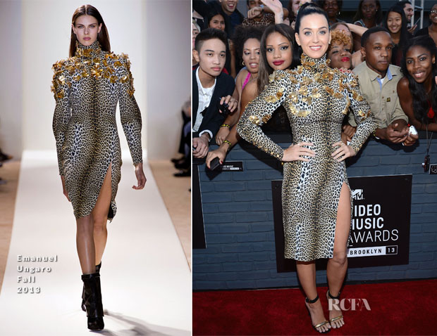 Katy Perry In Emanuel Ungaro - 2013 MTV Video Music Awards
