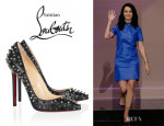 Katy Perry's Christian Louboutin 'Pigalle' Spikes Pumps