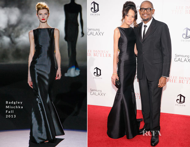 Keisha Whitaker In Badgley Mischka & Forest Whitaker In Prada - 'The Butler' New York Premiere