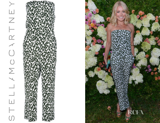 Kelly Ripa's Stella McCartney Strapless Printed Jumpsuit