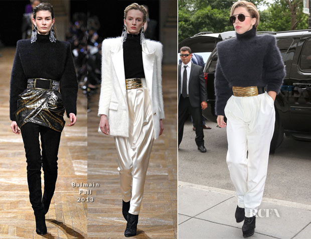 Lady Gaga In Balmain - Howard Stern Show