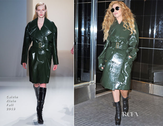 Lady Gaga In Calvin Klein Collection - Out In New York City