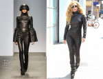 Lady Gaga In Mila Schon - Out In New York City