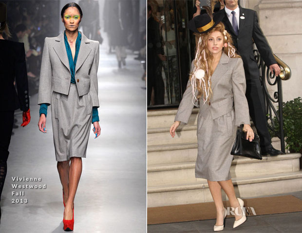 Lady Gaga in Vivienne Westwood - Out In London