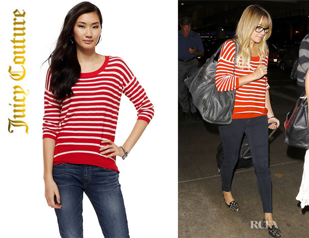 Lauren Conrad's Juicy Couture Nautical Stripes Sweater1