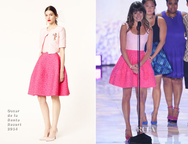 Lea Michele In Oscar de la Renta - 2013 Teen Choice Awards