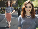 Lily Collins In Bec & Bridge - 'The Mortal Instruments: City Of Bones' Meet and Greet
