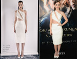 Lily Collins In Cushnie Et Ochs - 'The Mortal Instruments: City of Bones' LA Premiere