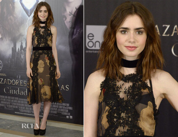Lily Collins In Dolce & Gabbana - 'The Mortal Instruments City Of Bones' Madrid Photocall
