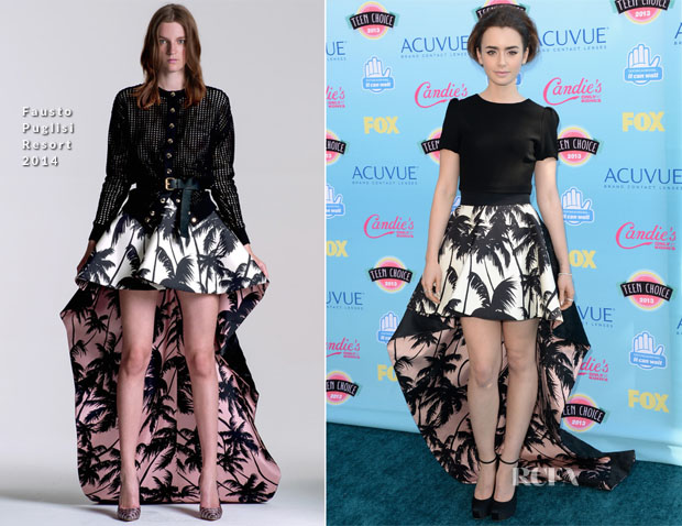 Lily Collins In Fausto Puglisi - 2013 Teen Choice Awards