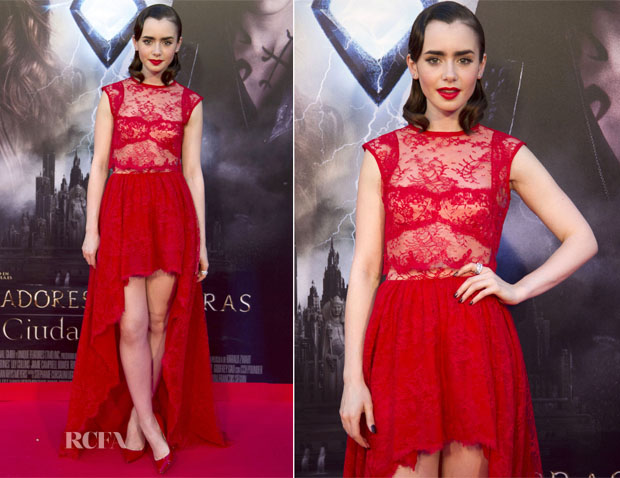 Lily Collins In Houghton – 'The Mortal Instruments City Of Bones' Madrid Premiere