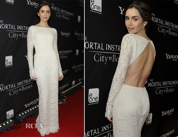 Lily Collins In Houghton - 'The Mortal Instruments City of Bones' Toronto Premiere