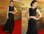 Lily Collins In Paper London and Halston Heritage - 'The Mortal Instruments: City of Bones' Berlin Premiere