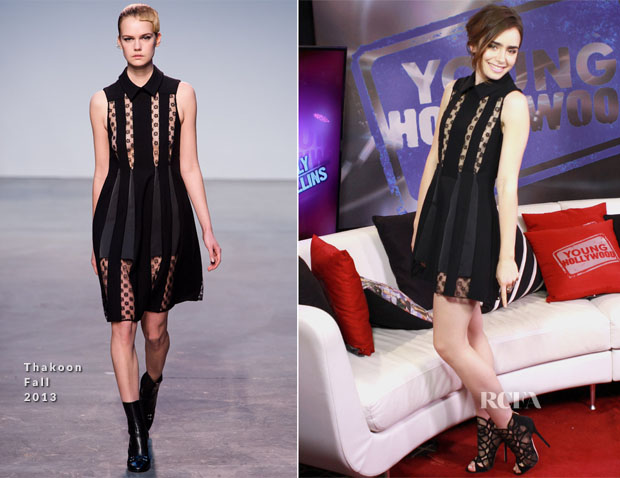 Lily Collins In Thakoon - Young Hollywood Studio