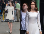 Lily Collins In Valentino - 'Good Morning America'