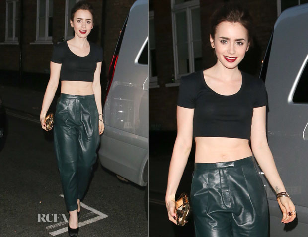 Lily Collins In Whistles - The Ivy