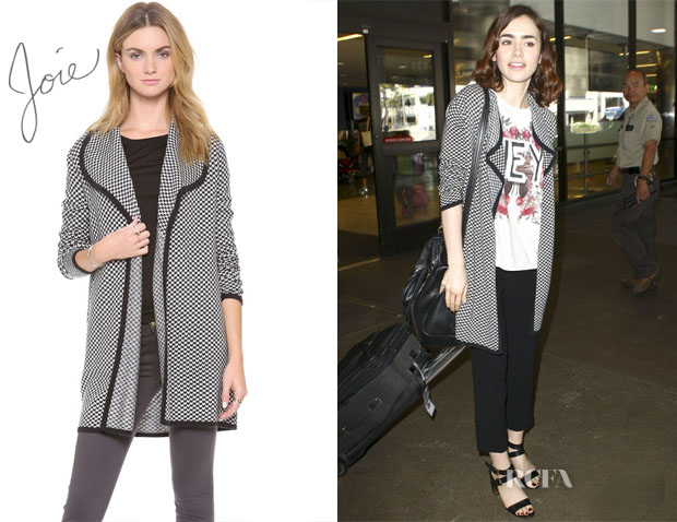 Lily Collins' Joie Yanet Sweater 2