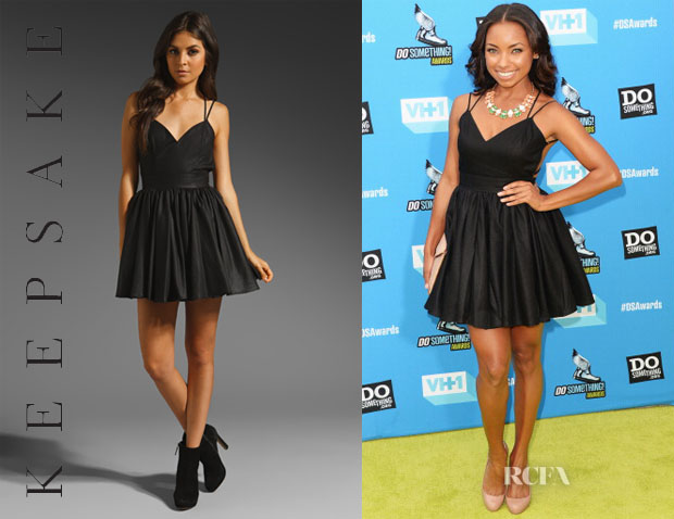 Logan Browning's keepsake Perfect Stranger Dress